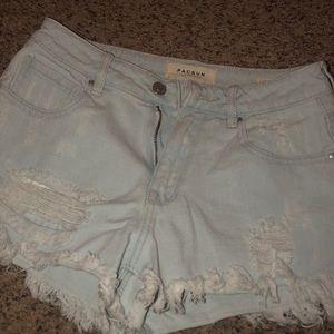 jean shorts (high rise)